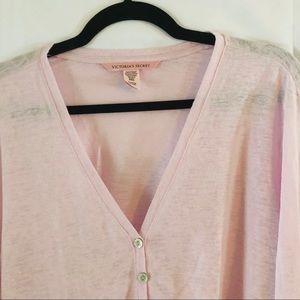 Victoria's Secret plunging neckline pink shirt
